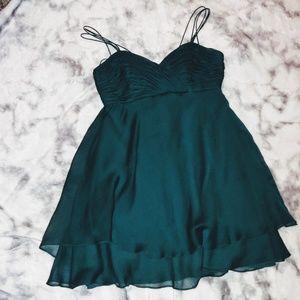 Green Kay Unger cocktail dress